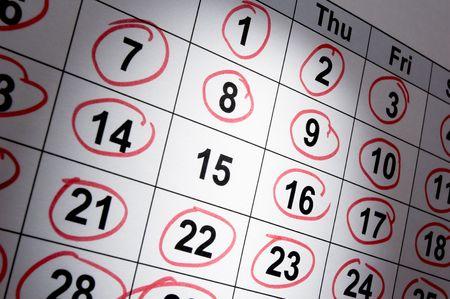 calendrier jour: fermeture du calendrier