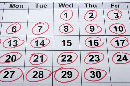 close up of calendar Stock Photo - 4848594
