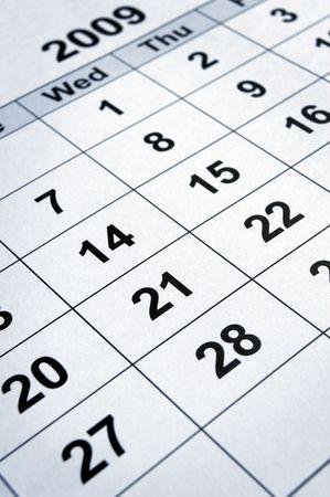 close up of calendar Stock Photo - 4848602