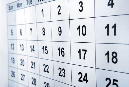 close up of calendar Stock Photo - 4848542