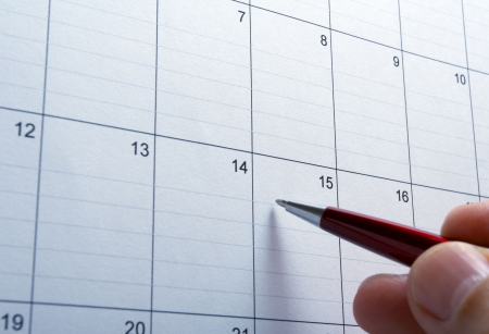close up of calendar a  Stock Photo - 4848551