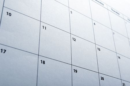 appointment book: close up of calendar a