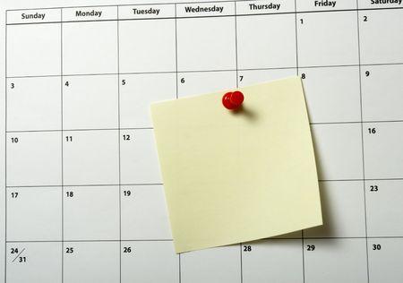 close up of a calendar  photo