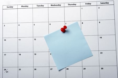 close up of a calendar  Stock Photo - 4848498