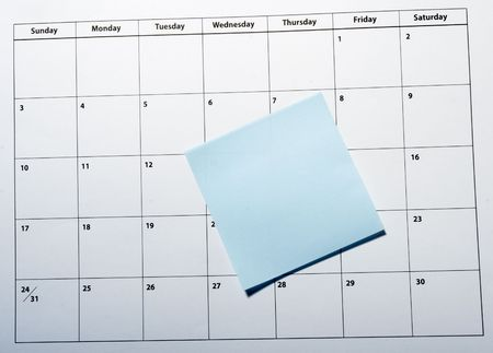 appointment book: close up of a calendar