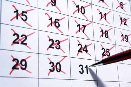 clear day: close up of calendar a