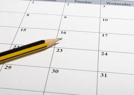 close up of calendar a  photo