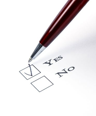 questionary: close up of questionnaire test Stock Photo