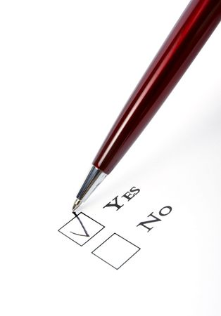 close up of questionnaire test Stock Photo - 4848389