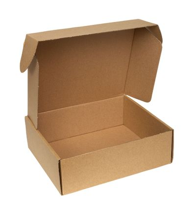 close up of carton box on white background with clipping Stock Photo - 4983522