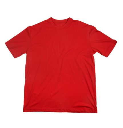 close up of on a t shirt on white background with clipping Stock Photo - 4983572