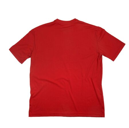 close up of on a t shirt on white background with clipping Stock Photo - 4983457