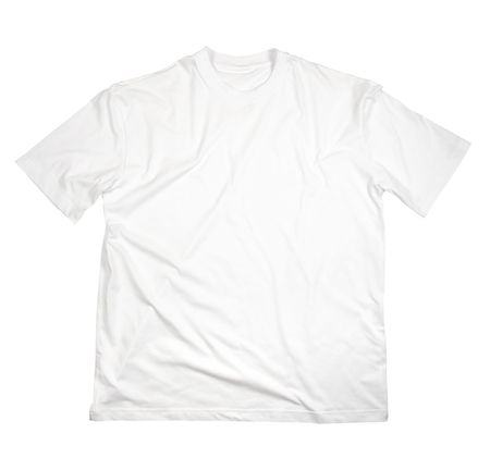plain: close up of on a t shirt on white background with clipping
