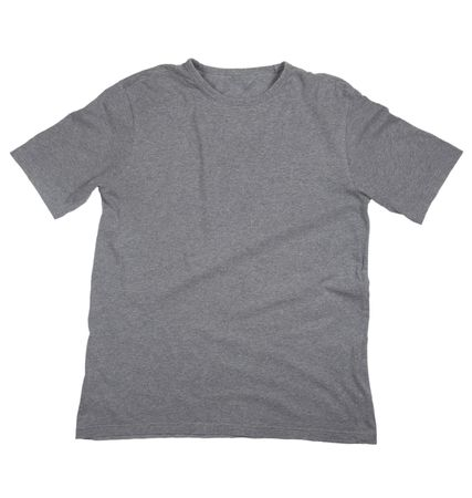 tshirt: close up of on a t shirt on white background with clipping
