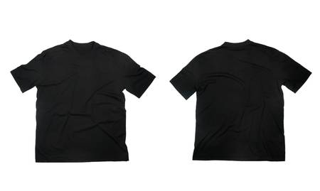 hang up: collection of  t shirts on white background. each one is in full cameras resolution.