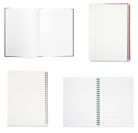 collection of notebooks on white background. each one is in full camera resolution Stock Photo - 5080974