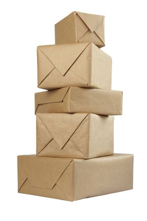close up of carton  box  post package Stock Photo - 5223375