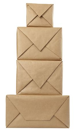 close up of carton  box post package photo