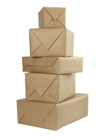 close up of carton  box  post package Stock Photo - 5223672