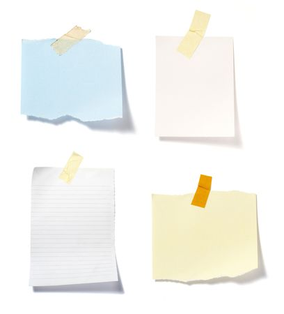 close up of postit reminders on white background . each one is in cameras full resolution Stock Photo - 5281461
