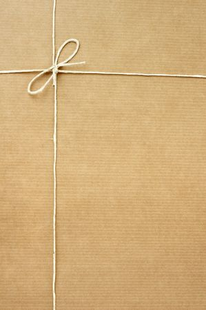 close up of carton  box  post package on white background Stock Photo - 5281623