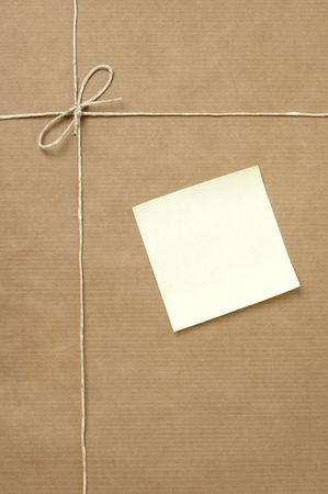 close up of carton  box  post package on white background Stock Photo - 5281495