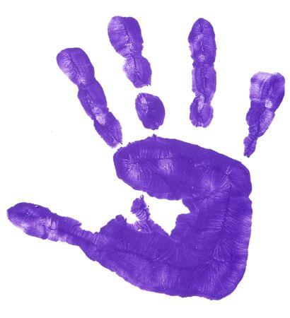 près de gravures de main enfant coloré sur fond blanc