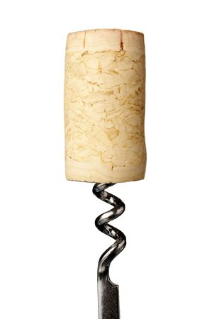cork screw: close up of bottle opener and cork of wine bottle