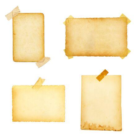 papel quemado: vieja foto instant�nea retro pel�cula de transferencia sobre fondo blanco. cada uno es independiente de foto de alta resoluci�n en c�maras de