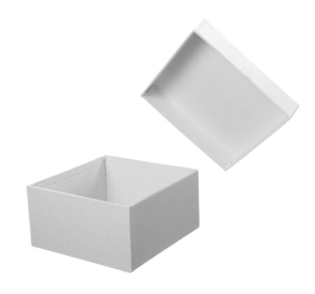 close up of white carton  box  package photo