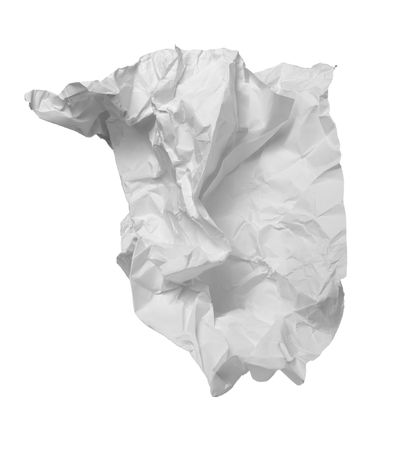 scrunched: close up of ball of paper Stock Photo