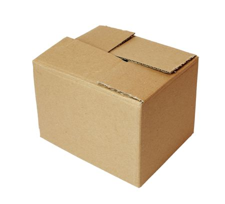 close up of carton  box  post package Stock Photo - 5336835