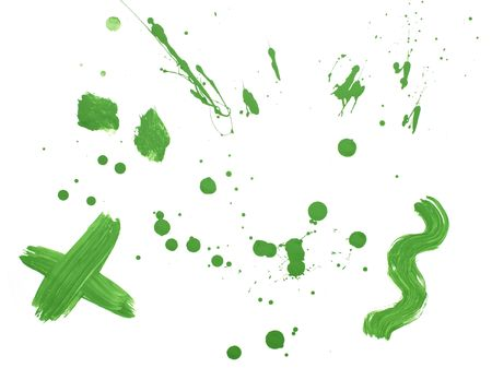 collection of colorful paint brush strokes on white background Stock Photo - 5517087