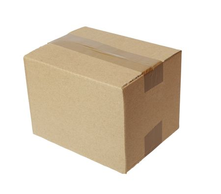 shipped: close up of carton  box  post package