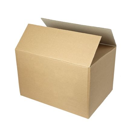 close up of carton  box  post package on white background  Stock Photo - 5547691