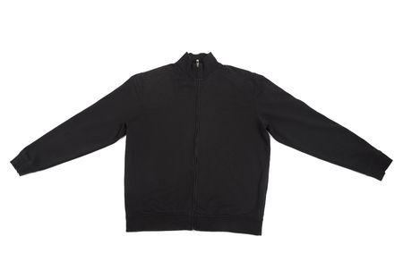 close up of  black long sleeve shirt on white background Stock Photo - 5664951