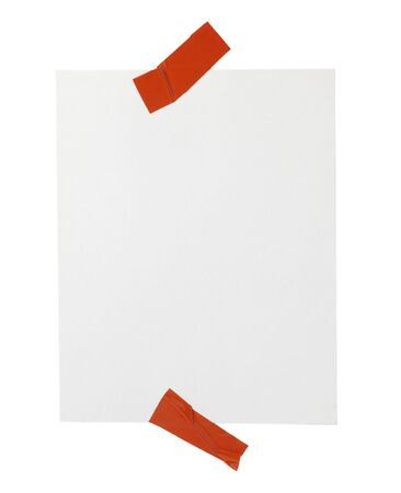 close up of post it reminder with red push pinon white background with clipping path Stock Photo - 5758379