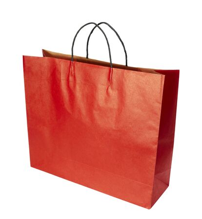 close up of shopping bag on white background with clipping path photo