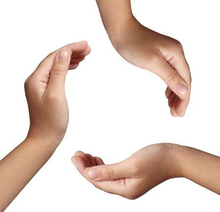 educazione ambientale: Close up delle mani che fanno cerchio conservazione