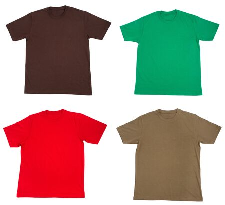 collection of  t shirts on white background Stock Photo - 5870328