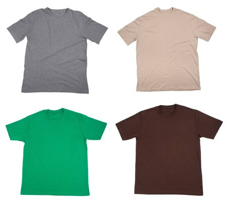 collection of  t shirts on white background  Stock Photo - 5991514