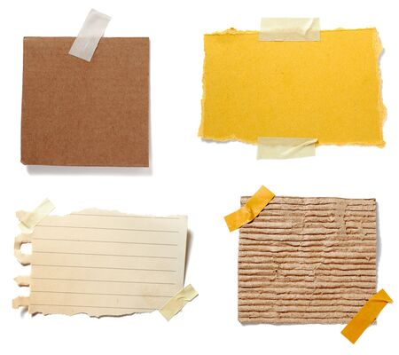 collection of old note paper paper on white background. each one is in full cameras resolution Stock Photo - 5991623