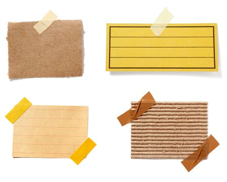 collection of old note paper paper on white background. each one is in full cameras resolution Stock Photo - 5991633