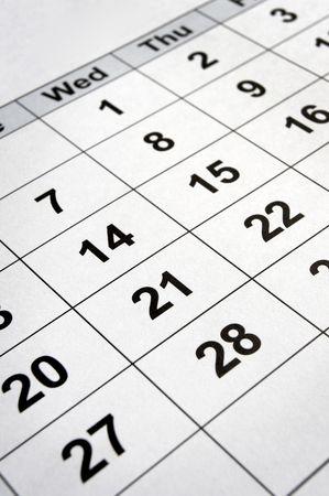 close up of calendar  photo