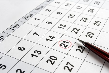 close up of calendar Stock Photo - 6073960