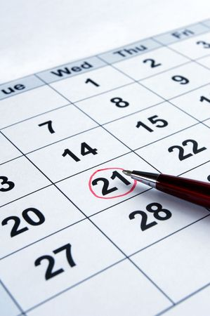 close up of calendar  Stock Photo - 6073956