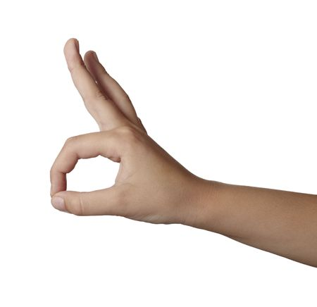 close up of hand gesturing photo