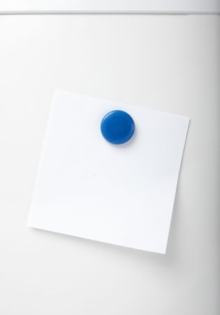 postit note: close up of postit reminder on white background refigerator