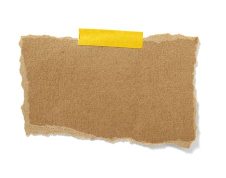 old brown grunge paper on white background with clipping path Stock Photo - 9264683