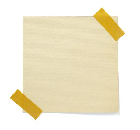 note book: old brown grunge paper on white background with clipping path Stock Photo